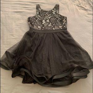 Girls formal black dress
